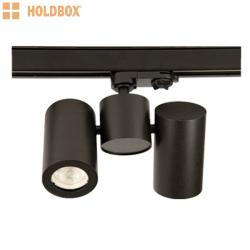 Oprawa na szynoprzewód Bari II GU10 czarna Holdbox