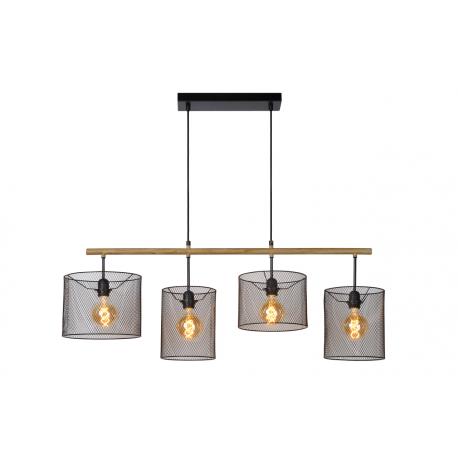 Baskett lampa wisząca czarna 45459/04/30 Lucide