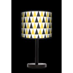 Fotolampa Black and yellow - lampa stojąca mała buk