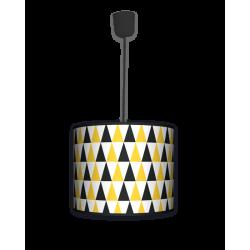 Fotolampa Black and yellow - lampa stojąca mała calvados