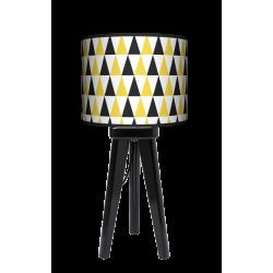 Fotolampa Black and yellow - lampa stojąca mała orzech