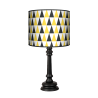 Black and yellow Queen lampa Fotolampy