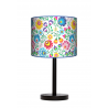 Folk lampa stołowa nocna drewniana duża Fotolampy