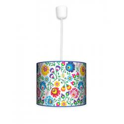 Fotolampa Folk - lampa stojąca mała orzech