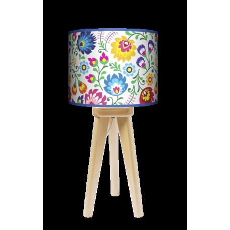 Fotolampa Folk - lampa stojąca mała wenge