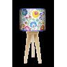 Folk lampa trójnóg drewniana mała Fotolampy