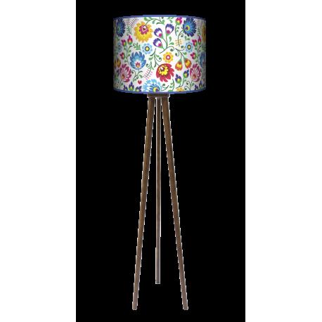 Folk lampa trójnóg drewniana duża Fotolampy