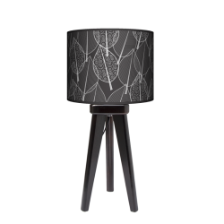 Fotolampa Czarny las - lampa stojąca mała buk