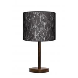 Czarny las lampa stołowa drewniana duża Fotolampy