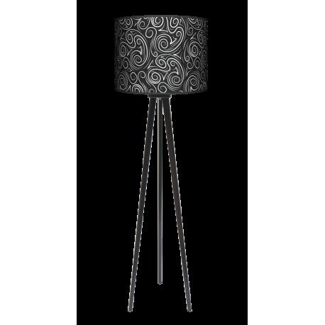 Glamour lampa trójnóg drewniana duża Fotolampy