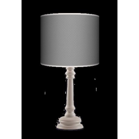 Grey tie Queen lampa drewniana Fotolampy