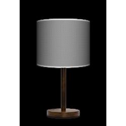 Fotolampa Grey tie - lampa stojąca mała buk