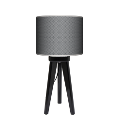 Fotolampa Grey tie - lampa stojąca mała orzech
