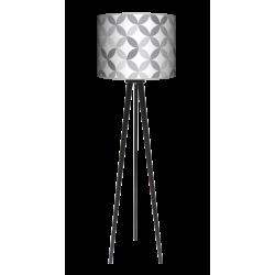 Light Grey lampa trójnóg drewniana duża Fotolampy