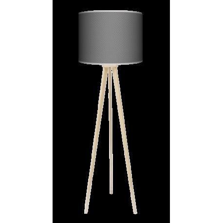 Grey tie lampa trójnóg drewniana duża Fotolampa