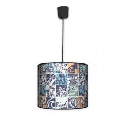 Fotolampa Grunge - lampa stojąca mała buk
