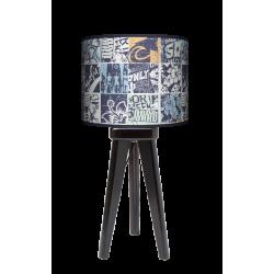 Fotolampa Grunge - lampa stojąca mała orzech