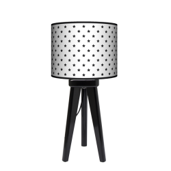 Gwiazdki trójnóg lampa drewniana mała Fotolampy