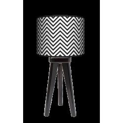 Modern trójnóg lampa drewniana mała Fotolampy