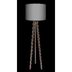 Modern trójnóg lampa drewniana duża Fotolampy