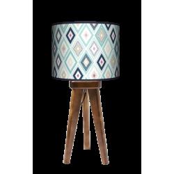 Ozdoba trójnóg lampa drewniana mała Fotolampy