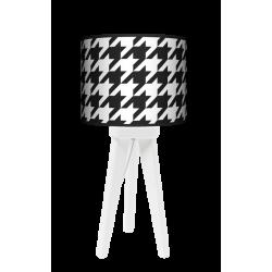 Pepitka trójnóg lampa drewniana mała Fotolampy