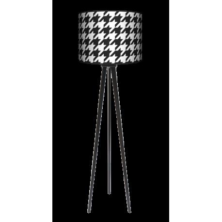 Pepitka trójnóg lampa drewniana duża Fotolampy