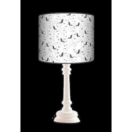 Ptaki Queen lampa drewniana Fotolampy