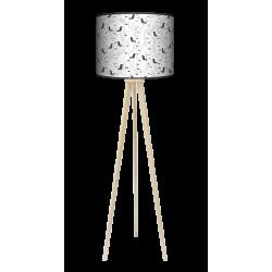 Ptaki trójnóg lampa drewniana duża Fotolampy