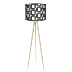 Retro trójnóg lampa drewniana duża Fotolampy