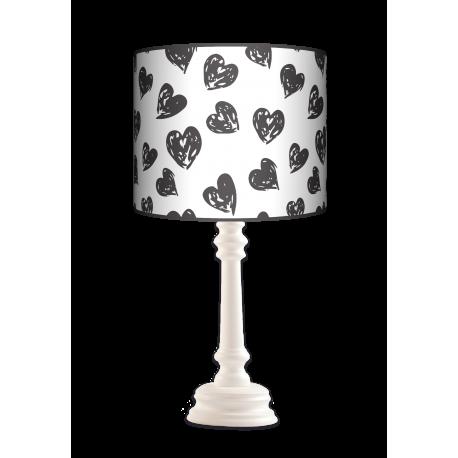 Serca Queen lampa drewniana Fotolampy