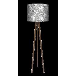 Truskawki lampa trójnóg drewniana duża Fotolampy