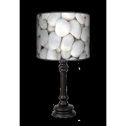 Biały kamień Queen lampa drewniana Fotolampy