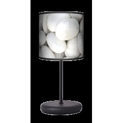 Biały kamień lampa stołowa EKO Fotolampy