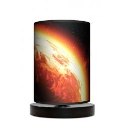 Słońce lampa stołowa drewniana mała Fotolampy