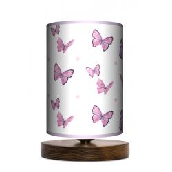 Motyle lampa stołowa drewniana mała Fotolampy