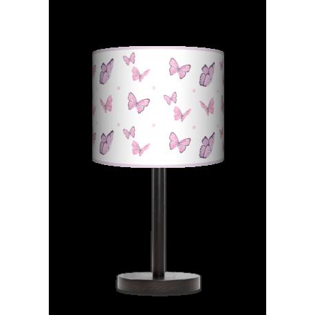 Motyle lampa stołowa drwniana duża Fotolampy