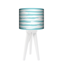 Paintbrusk lampa trójnóg drewniana mała Fotolampy