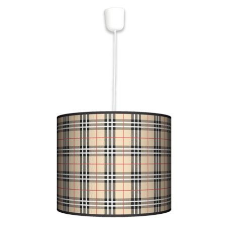 Kratka piaskowa lampa wisząca duża Fotolampa