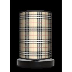Kratka piaskowa lampa stojąca drewniana mała Fotolampa
