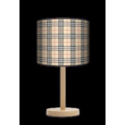 Kratka piaskowa lampa stojąca drewniana duża Fotolampa