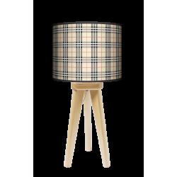 Kratka piaskowa lampa trójnóg drewniana mała Fotolampa