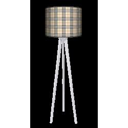 Kratka piaskowa lampa trójnóg drewniana duża Fotolampa