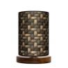 Kosz lampa stojąca drewniana mała Fotolampy