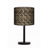 Kosz lampa stojąca drewniana duża Fotolampy