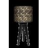 Kosz lampa trójnóg drewniana mała Fotolampy