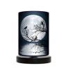 Moon lampa stojąca drewniana mała Fotolampy