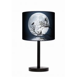 Moon lampa stojąca drewniana duża Fotolampy