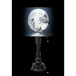 Moon Queen lampa stojąca drewniana Fotolampy