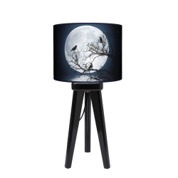 Moon lampa trójnóg drewniana mała Fotolampy